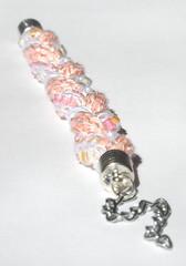 textil jewelry (S.CHICK) Tags: armband jewelry garn weiss schmuck perlen ros silber edel gestrickt schick hbsch armkette dawanda verlngerungskette