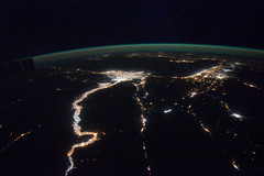 A Night View Around the Mediterranean Sea (NASA, International Space Station, 02/25/12)
