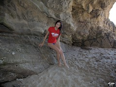 Pretty Brunette Swimsuit Bikini Model in Sea Cave (45SURF Hero's Odyssey Mythology Landscapes & Godde) Tags: california girls sea woman hot sexy beach girl beautiful beauty fashion photography pretty surf photos modeling models tshirt malibu southern socal bikini cave swimsuit swimsuits bikinis 45surf