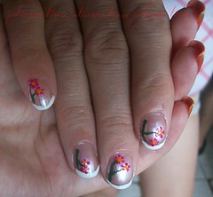 - Francesinha. (juliiannelima) Tags: flores art nail unha francesinha decorada juliiannelima