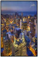 Chicago at Night (Frank Kehren) Tags: chicago night skyscraper canon lights illinois unitedstates searstower explore 24 f56 hdr canoneos5dmarkii willistower tse24mmf35lii canontse240mmf35lii