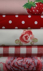 Kidston and Ashley Stash - Bibi strawberry and Hollyhocks (janeych) Tags: flowers laura flower vintage strawberry quilt folk sewing crafts ashley country cottage strawberries homemade vintagefabric fabric cotton thrift quilting makes patchwork bibi cath fabrics midwales shabby cathkidston shabbychic vintagefabrics kidston ditsy lauraashley vintagelauraashley