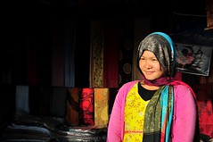 A saleslady (Melinda ^..^) Tags: nepal woman color lady female colorful mel melinda pokhara nepali sarangkot chanmelmel