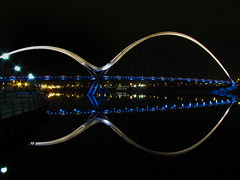 Infinite possibilities. (paul downing) Tags: longexposure night canon reflections spring lowlight pdp stocktonontees rivertees pd1001 sx10is infinitybridge pauldowning