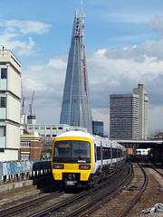 The Shard, From Waterloo East. (crashcalloway) Tags: london station londonbridge trains emu railways southeastern waterlooeast class465 theshard 465042