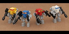 Armed Forces (pasukaru76) Tags: lego squad weapons mecha moc canon100mm microscale
