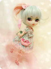 Sweet~ (Paula ~) Tags: world pink cute sparkles glitter bag outfit doll pretty lashes eyelashes candy sweet body handmade turquoise peach mint dal tights lips chips pale biscuit polkadots lolita cotton planning ap hosiery groove gloss pullip blythe op split pigtails teacup onepiece angelic jun prunella maretti coolcat frills whity glossed hnaoto sbhs joujou leeke obitsu sfoglia 27cm leekeworld rewigged rechipped obitsued