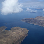 Kim over Jura, Scarba and the Corryvreckan
