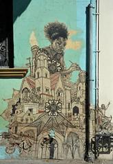 Painting a World Mural Oaxaca (Ilhuicamina) Tags: woman streetart art mexico graffiti mujer artist paintings murals mexican oaxaca walls