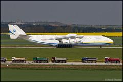 "Antonov An-225 ""Mriya"" (Pavel Vanka) Tags: plane airplane airport prague aircraft jet praha spot ukraine cargo czechrepublic biggest spotting antonov cargoplane an225 mriya antonovairlines praharuzyne lkpr mrija"