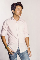 IVAN_1 (KennyEdrosolo) Tags: portrait white man fashion studio asian profile poloshirt minimalist
