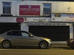 Is Pecial More Special Than Special? (mary01985) Tags: road street wallpaper church car sign shop bar night manchester restaurant furniture faith jesus special nighttime removal
