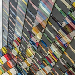 Synaesthesia (Paul Brouns) Tags: windows music abstract reflection building netherlands colors lines amsterdam architecture modern rainbow nederland structure scales rhythm chords architectuur noord descending ascending  paulbrouns paulbrounscom