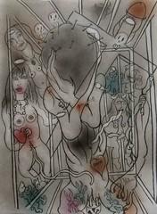 lV. JÉSUS RENCONTRE SA MÈRE (Claude Bolduc) Tags: outsiderart drawing surrealism artbrut stationsofthecross lowbrow visionaryart lowbrowart artsingulier intuitiveart