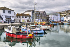 The inner harbour, Mevagissey, Cornwall (Baz Richardson) Tags: cornwall fishingboats cafes mevagissey fishingvillages cornishharbours