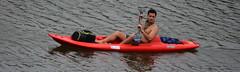 Boys on the Bayou (Omunene) Tags: shirtless pecs kayak chest neworleans kayaking abs sunbathing bayoustjohn faubourgstjohn
