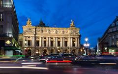 Palais Garnier | blue hour (josefrancisco.salgado) Tags: longexposure paris france evening twilight nikon europa europe ledefrance motionblur bluehour nikkor operahouse crepsculo palaisgarnier lighttrail d4 exposicinlarga placedelopera 2470mmf28g