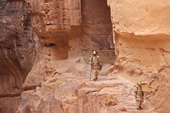 Petra, Jordan (pepperinmyteeth) Tags: city travel pink red vacation building tourism rose rock architecture lost greek jones carved workers ancient sandstone ruins roman petra treasury siq columns ruin middleeast indiana tourist tourists arabic east jordan arab armor column arabian middle wadi musa indianajones bedouin levant lastcrusade nabatean wadimusa alkhazneh