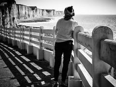 Ault Cliff . (kitchou1 Thanx 4 UR Visits Coms+Faves.) Tags: world friends sky people bw seascape france nature season landscape spring europe exterior nb printemps saison