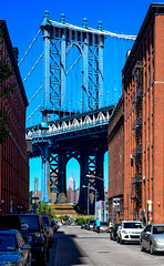 Manhattan Bridge and Empire State Building (Aleem Yousaf) Tags: new york bridge usa building photo nikon state walk manhattan united empire states d800 1835mm