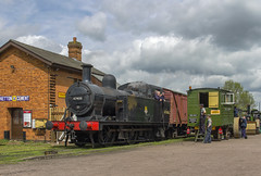 Goods Demonstration (Kev Gregory) Tags: railroad building yard work no great traction central engine rail railway class goods steam british locomotive trailer gregory kev railways 3f gala woodhouse freight fowler listed quorn lms gcr jinty 47406