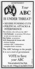 Your ABC is Under Threat! - 1998 (RS 1990) Tags: newspaper retro nostalgia article adelaide abc 1998 messenger southaustralia 1990s aunty microfilm australianbroadcastingcorporation