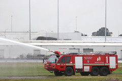 Panther extinguishing power (adelaidefire) Tags: rescue fire airport aircraft air south australian australia ambulance adelaide service sa asa fighting panther metropolitan services mfs saas rosenbauer arff samfs ypad sasgar