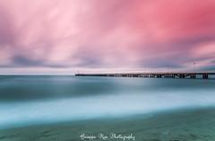 (P.R.F) Tags: longexposure red sea sky italy landscape tuscany toscana pontile lungaesposizione