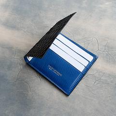 Blue Chvre interior (Vertstone) Tags: england 6 fashion handmade wallet alligator lizard ostrich luxury iphone cardholder vertstone