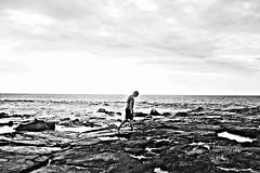 Goodbye, Hawai'i. It was nice to have met you. (Katha.*) Tags: ocean sea blackandwhite hawaii lava blackwhite moody snapshot bigisland goodbye kona schwarzweis