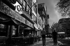 Brocach (patrickkuhl) Tags: street people blackandwhite monochrome wisconsin bar restaurant blackwhite pub shadows 28mm streetphotography madison gr madisonwi ricoh ricohgr wisco wisc brocach