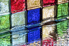 glass mosaic tiles (hmm) (WilliamND4) Tags: macro reflection wet glass nikon colorful tiles d750 anythinggoes tokina100mmf28atxprod macromondays tokina100mmf28lens nikond750