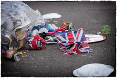 After The Party II (kirby126) Tags: street party jack elizabeth flag union queen ii rubbish aftertheparty canon6d canon70200f4i pjlimages
