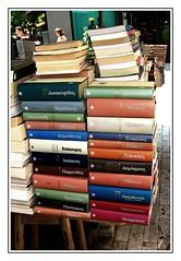 Classics in the street (swenwllter) Tags: reading book reader philosophy books athens bookstore bookshop plato bookstores libreria parmenides librerias