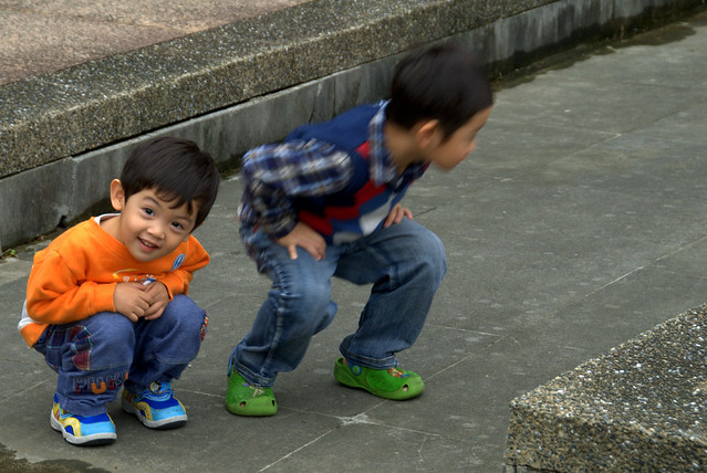 Playful Children at Sun Yat-Sen Memorial Hall
