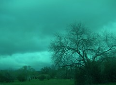 Overcast sky....