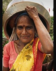 portrait of a Tamil tea picker at the Dambatenne Plantation, near Haputale, Sri Lanka (jitenshaman) Tags: travel portrait asian asia tea plantation destination worker srilanka ceylon oriental orient tamil haputale teapicker dambatenne worldlocations