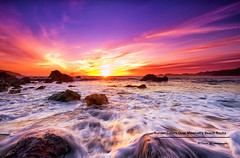 Sunset Colors Over Marshall's Beach Rocks (davidyuweb) Tags: sanfrancisco california sunset usa 6 beach water colors rocks soft waves over 9 lee edge incoming marshalls sfist gnd filte bestcapturesaoi