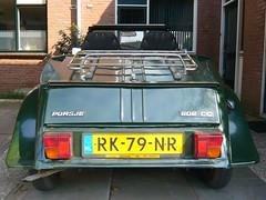 Citroën 2CV6 - 1987 (Porsje 602CC Cabriolet) (oerendhard1) Tags: green classic car duck 1987 citroën deux customized een chevaux cabriolet 2cv6 lelijkeeend 602cc porsje