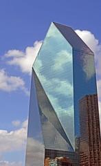 Fountain Place (WhiPix) Tags: sculpture green glass architecture skyscraper dallas texas prism impei triangular parallelogram fountainplace