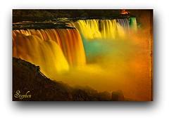 ~ Niagara Falls at Night ~`~ (stephgum32807) Tags: newyork texture niagara falls mygearandme