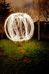Day 69 of 366 Sparkley Sphere (Chris Willis 10) Tags: light photo sphere paintingwithlight sparkler 366 photo366