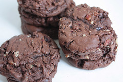 killer chocolate cookies (saucy dragonfly) Tags: coffee cookies cherries chocolate pecans sweetbakingblogsaucysashasashalibbysaskatoonsaucyssprinklesrecipebloggedyblogblogtreat killerchocolatecookies
