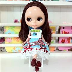 Eeeek! Ruby has her own little sewing machine!!!