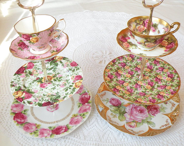 cake cupcake cookie soap jewelry stand display centerpiece dessert pedestal platter dish plate tidbit tray gold pink rose flower floral antiqque vintage asian modern green blue yellow cabbage pearls royal queen aliceinwonderland madhatter wedding bridal baby shower reception candy bar buffet table sweets garden borthday party french cottage english england british german germany bavaria albert highteaforalice tea cup teacup saucer gilt gilded cameo tier tiered 3 4 2 princess shabby chic