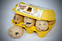 39 of 366 - happy eggs! (benrobson2999) Tags: stilllife silly yellow drunk happy eggs stoned spaced chilled eggbox happyeggco
