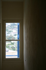 (kristenicole) Tags: light window greece negativespace andros batsi