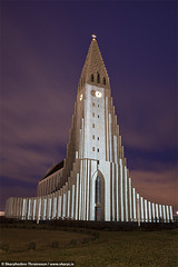 Hallgrmskirkja - Reykjavk winter lights festival, Iceland (skarpi - www.skarpi.is) Tags: city winter light building art clock church festival architecture island lights design iceland cityscape display capital hallgrimskirkja reykjavik reykjavk sland hallgrmskirkja kirkja ht winterfestival vetrarht reykjavikwinterlightsfestival