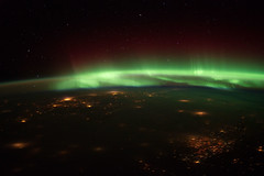 Aurora Borealis Over Midwestern U.S. (NASA, International Space Station, 01/25/12) (NASA's Marshall Space Flight Center) Tags: nebraska unitedstates nasa auroraborealis greatplains internationalspacestation earthatnight crewearthobservation spacestationresearch