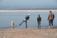 2012marathon-2.jpg (Zandvoort Life) Tags: sea dog holland beach netherlands marathon nederland zandvoortaanzee saggerboy pinkundies scheveningentozandvoort